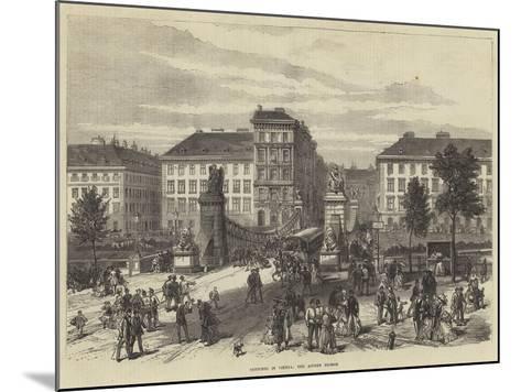 Sketches in Vienna, the Aspern Bridge--Mounted Giclee Print