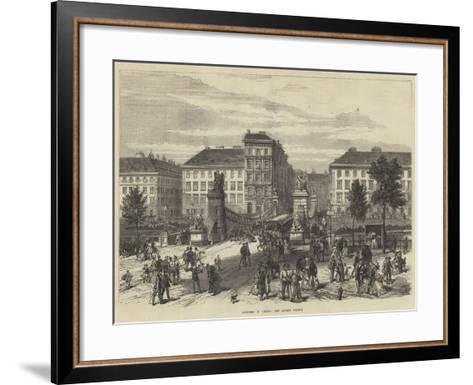 Sketches in Vienna, the Aspern Bridge--Framed Art Print