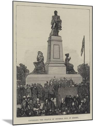 Unveiling the Statue of General Don, in Jersey--Mounted Giclee Print