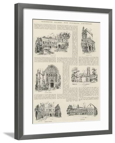 Winchester College, Five Hundredth Anniversary--Framed Art Print