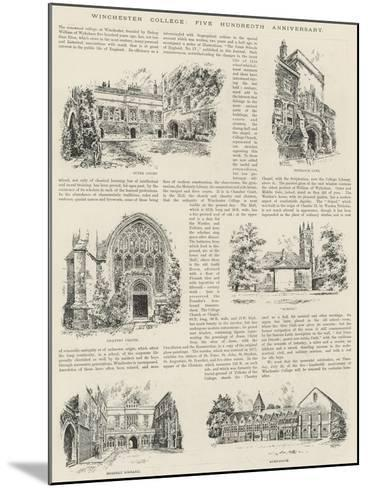 Winchester College, Five Hundredth Anniversary--Mounted Giclee Print