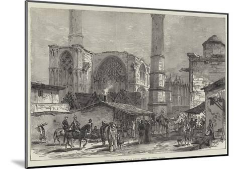 Sketches of Cyprus, St Sophia, Nicosia--Mounted Giclee Print