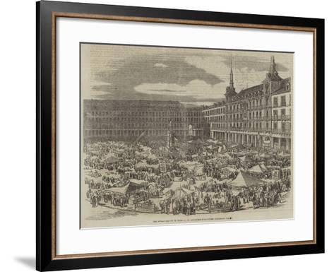 The Great Square in Madrid, on Christmas-Eve--Framed Art Print