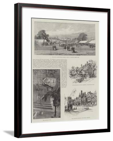 Visit of the Prince of Wales to Warwickshire--Framed Art Print