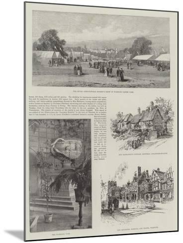 Visit of the Prince of Wales to Warwickshire--Mounted Giclee Print