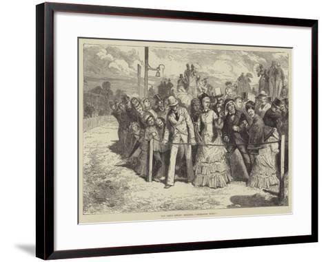The Paris Spring Meeting, Mondaine Wins!--Framed Art Print