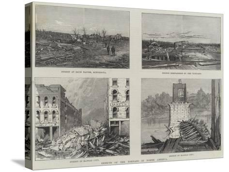 Effects of the Tornado in North America--Stretched Canvas Print
