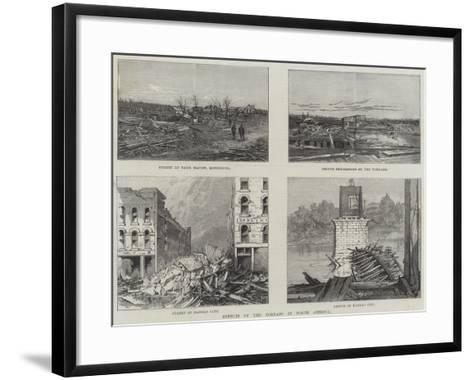 Effects of the Tornado in North America--Framed Art Print
