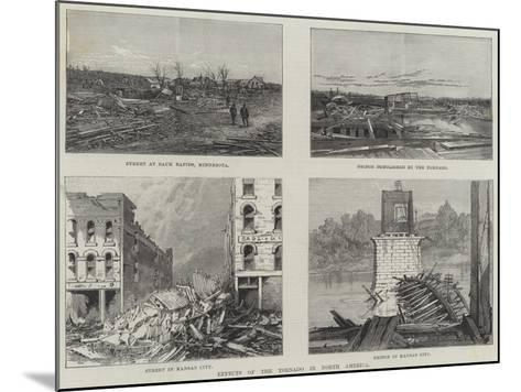 Effects of the Tornado in North America--Mounted Giclee Print