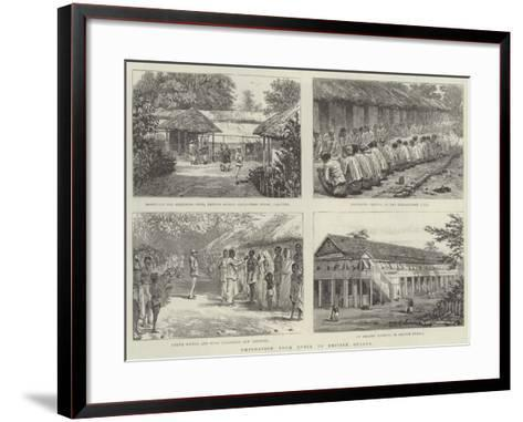 Emigration from India to British Guiana--Framed Art Print