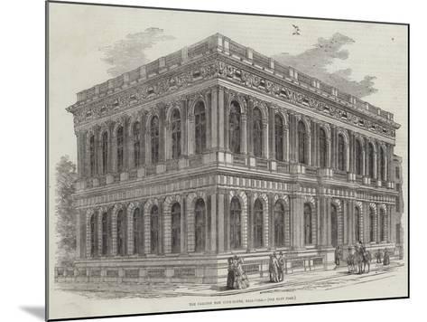The Carlton New Club-House, Pall-Mall--Mounted Giclee Print