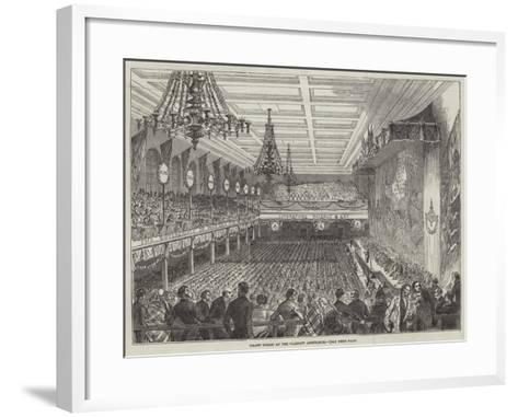 Grand Soiree at the Glasgow Athenaeum--Framed Art Print
