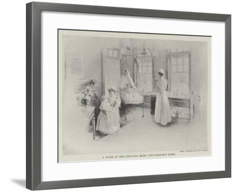 A Ward in the Princess Mary Convalescent Home--Framed Art Print