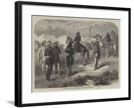 Indian Troops for the Abyssinian Expedition--Framed Art Print