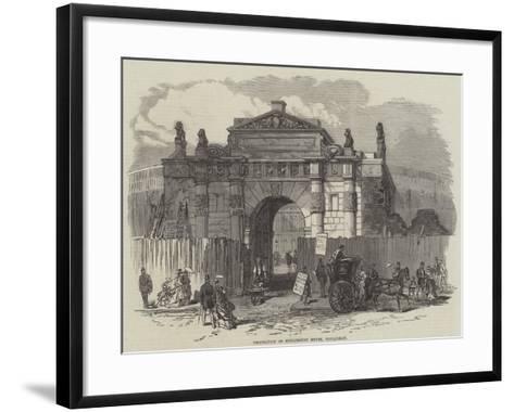 Demolition of Burlington House, Piccadilly--Framed Art Print