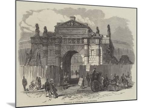 Demolition of Burlington House, Piccadilly--Mounted Giclee Print