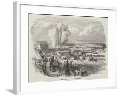 Siege Operations at Chatham, Springing a Mine--Framed Art Print