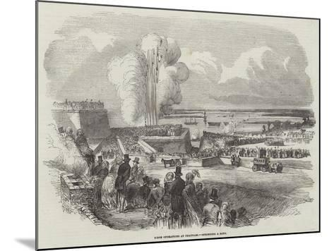 Siege Operations at Chatham, Springing a Mine--Mounted Giclee Print