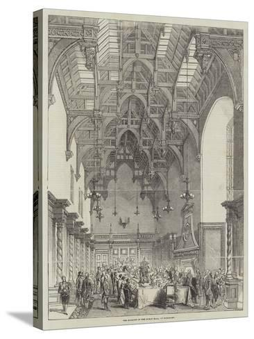 The Banquet in the Great Hall, at Burghley--Stretched Canvas Print