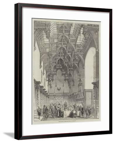 The Banquet in the Great Hall, at Burghley--Framed Art Print