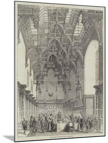 The Banquet in the Great Hall, at Burghley--Mounted Giclee Print
