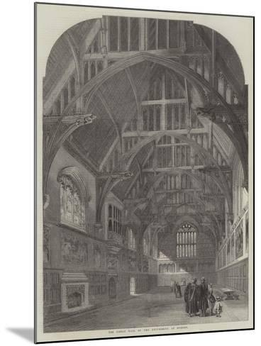 The Great Hall of the University at Sydney--Mounted Giclee Print