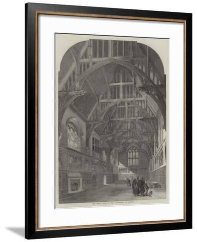 The Great Hall of the University at Sydney--Framed Art Print