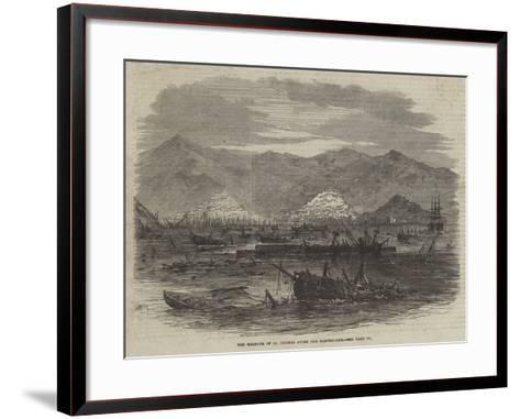 The Harbour of St Thomas after the Earthquake--Framed Art Print