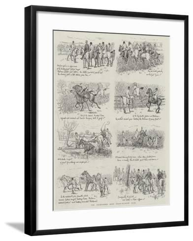 The Chumpshire Hunt Point-To-Point Race--Framed Art Print