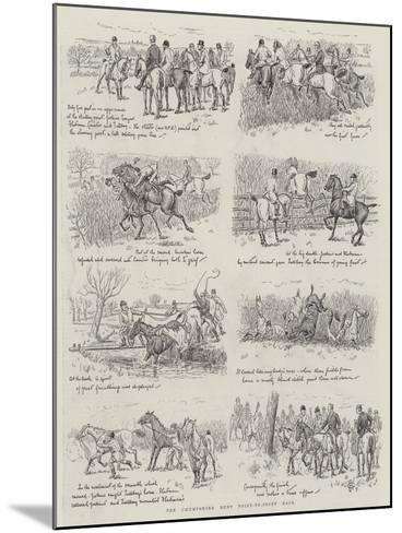 The Chumpshire Hunt Point-To-Point Race--Mounted Giclee Print