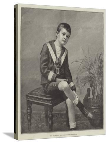 The Boy King of Servia, Alexander Obrenovitch--Stretched Canvas Print