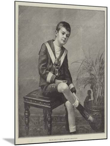 The Boy King of Servia, Alexander Obrenovitch--Mounted Giclee Print