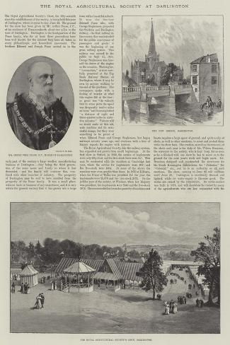 The Royal Agricultural Society at Darlington--Stretched Canvas Print