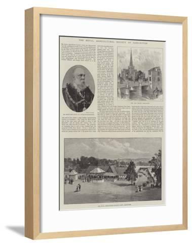 The Royal Agricultural Society at Darlington--Framed Art Print