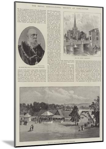 The Royal Agricultural Society at Darlington--Mounted Giclee Print