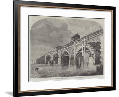 The Demolition of Old Westminster-Bridge--Framed Art Print