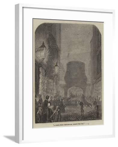 A Scene Near Temple-Bar, During the Fog--Framed Art Print