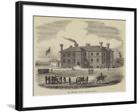 New Artillery Militia Barracks, Ipswich--Framed Art Print