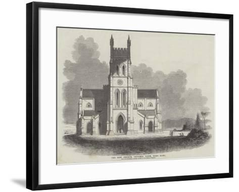 The New Church, Victoria Town, Hong Kong--Framed Art Print