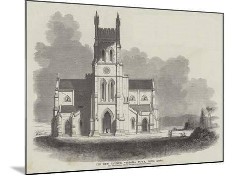 The New Church, Victoria Town, Hong Kong--Mounted Giclee Print