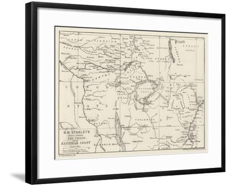 Stanley's Emin Pasha Relief Expedition--Framed Art Print
