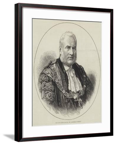 The New Lord Mayor, Mr Alderman Cotton--Framed Art Print