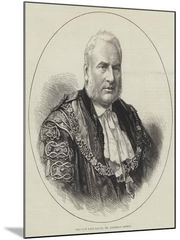 The New Lord Mayor, Mr Alderman Cotton--Mounted Giclee Print