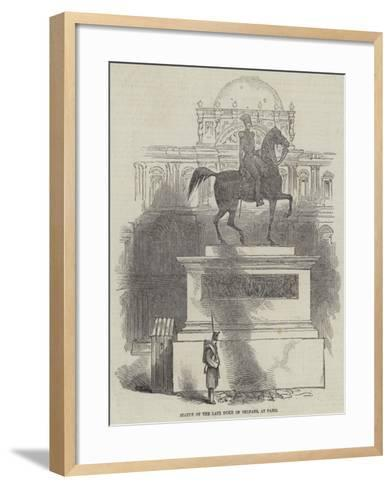 Statue of the Late Duke of Orleans, at Paris--Framed Art Print