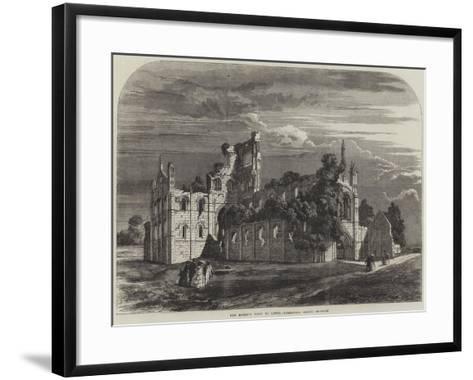 The Queen's Visit to Leeds, Kirkstall Abbey--Framed Art Print