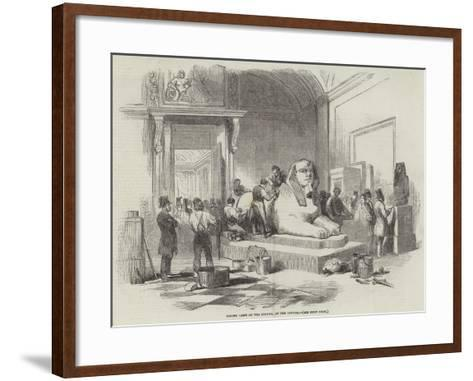 Taking Casts of the Sphynx, at the Louvre--Framed Art Print