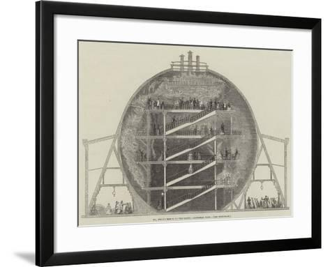 Mr Wyld's Model of the Earth, Sectional View--Framed Art Print
