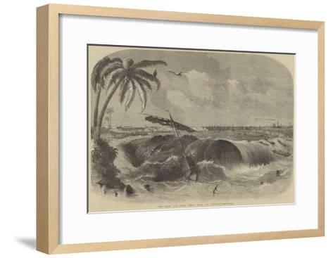 The Bore, or Great Tidal Wave, at Calcutta--Framed Art Print