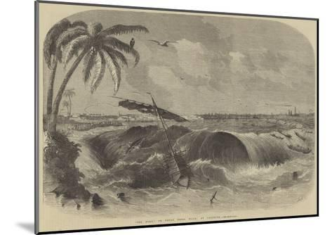 The Bore, or Great Tidal Wave, at Calcutta--Mounted Giclee Print