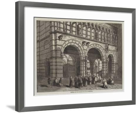 Portion of the Facade of Lucca Cathedral--Framed Art Print